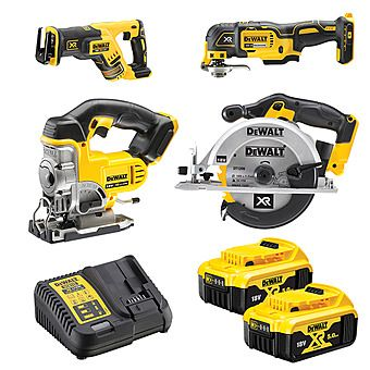 DEWALT 18V 4 Piece Cordless Cutting Kit + 2 x 5.0Ah Batteries