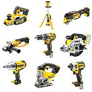 DEWALT 9 Piece 18V Cordless Powertool Kit + 3 x 5.0Ah Batteries