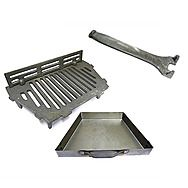AL 16 Inch Fire Grate With Coal Saver & 16 Inch Ash Pan