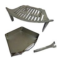 OFCO 14 Inch Round Fire Grate And Ashpan Set