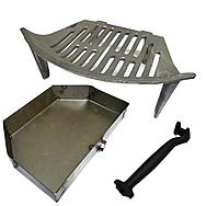 OFCO 18 Inch Fire Grate And Compatible Queenstar Ashpan