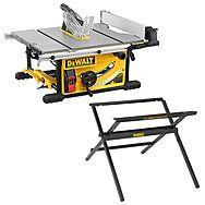 DeWalt DWE7492 250mm Table Saw With Scissor Stand