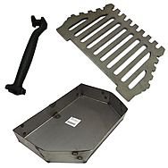 Queen Star 16 Inch Flat Fire Grate And Ash Pan Set