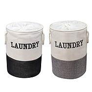 Showerdrape Laya Two Tone Laundry Hamper Basket