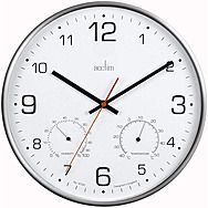Acctim 29147 Komfort Silent Clock With Temperature And Humidity