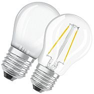 Osram 4.5W Golfball LED Edison Screw - 40W Equivalent