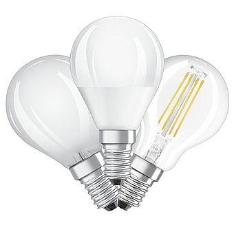 Picture of Osram 4-5.7W = 40W Warm White LED Light Bulb Round Golf Ball E14
