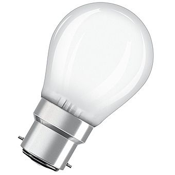 Osram 4W LED Golfball Frosted Bulb - Bayonet Cap