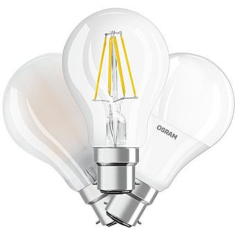 Picture of Osram 7-9W BC GLS LED Warm White Light Bulb