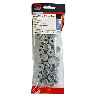 Picture of Timco Hinged Screw Caps 50pc Large