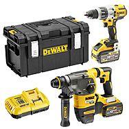 DEWALT DCK2033X2 XR DCH333 Rotary Drill + DCD996 Combi Drill With 2 x 9.0Ah FlexVolt Batteries