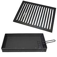 Valencia 18 Inch Flat Dog Fire Grate And Ash Pan Set