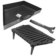 Firestar 16 Inch 2 Leg Fire Grate And Ash Pan Set