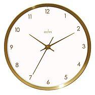 Acctim 29418 Eadie Brushed Brass Wall Clock