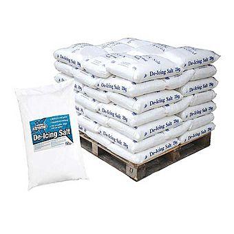 Pallet of De-Icing Rock Salt 40 Bags