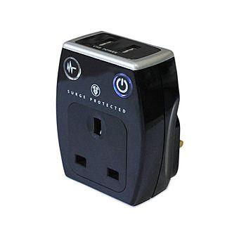 Masterplug SRGAUSBPB2MP Surge Protector USB Plug Adapter