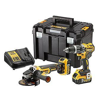 DeWalt DCK2080P2T Brushless 18v DCD796 Hammer Drill & DCG405 Grinder Twinpack