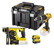 DeWalt DCK206M2T 18v Li-Ion DCH253 SDS+ Rotary Hammer Drill & DCD785 Combi Drill Twinpack
