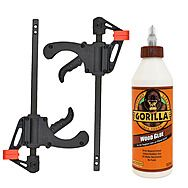 Gorilla Wood Glue 532mL And 2 Clamps Kit