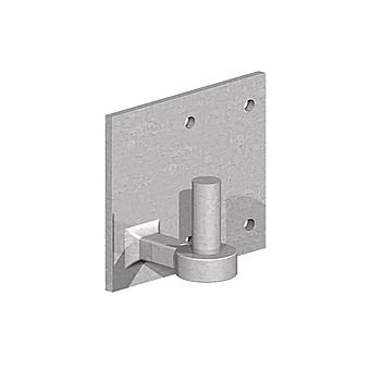 "Picture of Field Gate Hook On Plate 4"" x 6"" x 3/4"""