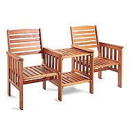 Kingfisher Hardwood Love Seat Jack and Jill