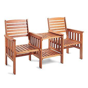 Kingfisher Hardwood Love Seat Jack and Jill