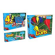 Garden Games Pack - Connect 4 + Lawn Darts + Quoits