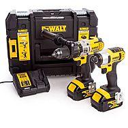 Dewalt DCK290M2T XR 18 Volt Combi Hammer Drill And Impact Driver Kit 4.0Ah