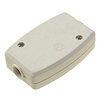 13 Amp 3 Wire Inline Solid Flex Connector White