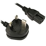 Black Kettle Lead 13 Amp Plug C15 Cable