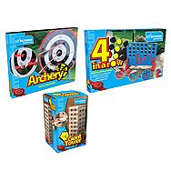 Garden Games Pack - Connect 4 + Archery + Jenga