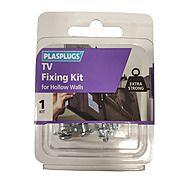 Plasplugs TV Fixing Kit For Hollow Walls