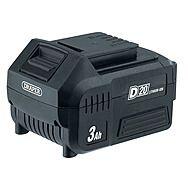 Draper 00649 D20 20V 3.0Ah Li-ion Battery Slide Pack Suitable For Draper 20 Volt Range