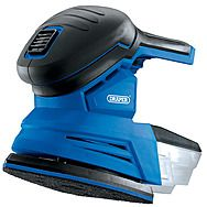 Draper 55657 D20 20V Tri-Base Cordless Detail Sander - Body Only