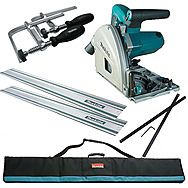 Makita SP6000J1 Plunge Cut Saw Kit with 2 x 1.4m Rails and Connector