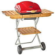 Outback Omega 200 Charcoal BBQ Red