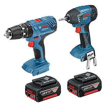 Bosch 18V Drill & Impact Driver With 2 x 4.0Ah Batteries