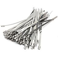 100 Stainless Steel Cable Ties 200-300mm
