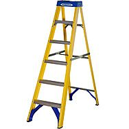 Werner 7160618 Six Tread Trade Swingback Fibreglass Step Ladder