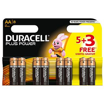 Duracell 5 + 3 AA Pack of Batteries