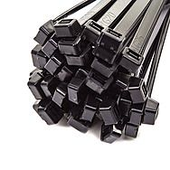 100 Black Cable Ties 4.8 x 630mm