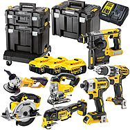 DeWALT DCK754P3T 18V XR 7 Piece Cordless Kit & 3 x 5.0Ah Batteries