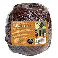 Garland 40m Flexible Tie 3mm (Brown)