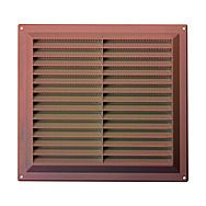 "Map Brown 9"" Plastic Louvre Vent"