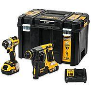 DeWalt DCK2532P2 18V XR Impact Driver & Hammer Drill Twin Pack + 2x 5.0Ah XR Batteries