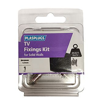 Plasplugs Heavy Duty TV Fixing Kit For Solid Walls