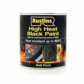 Rustins High Heat Black Paint 500mL