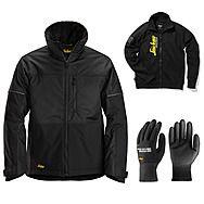 Snickers 1148 AllRound Winter Jacket + Gloves & Sweatshirt | Black/Black