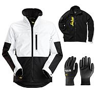 Snickers 1148 AllRound Winter Jacket + Gloves & Sweatshirt | White/Black