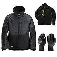 Snickers 1148 AllRound Winter Jacket + Gloves & Sweatshirt | Steel Grey/Black